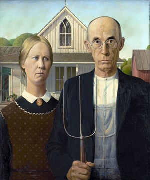 Symbolism of the Pitchfork in Grant Wood's American Gothic